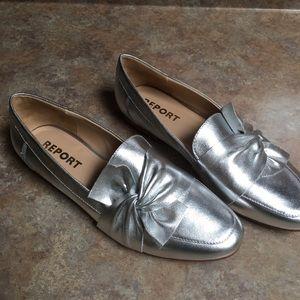 Report Zella Silver metallic loafers